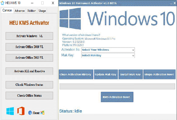 kms activator for windows 10