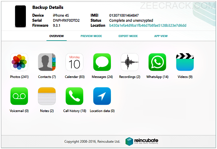 iPhone backup extractor full version crack